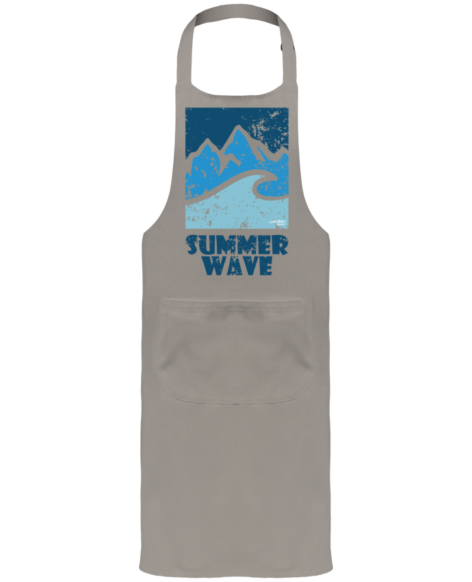 Garden or Sommelier Apron with Pocket SummerWAVE-02 by Marie