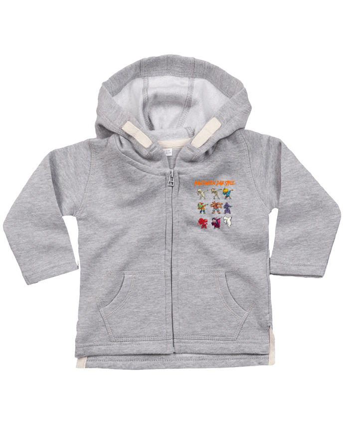 Hoddie with zip for baby HALLOWEEN DAB STYLE by fred design