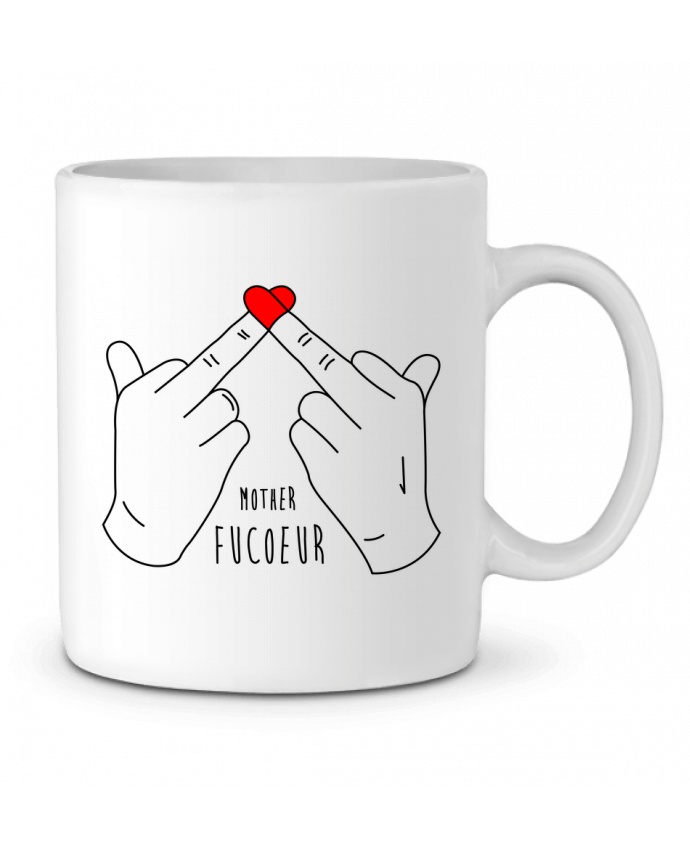 Ceramic Mug Mother FuCœur by tunetoo