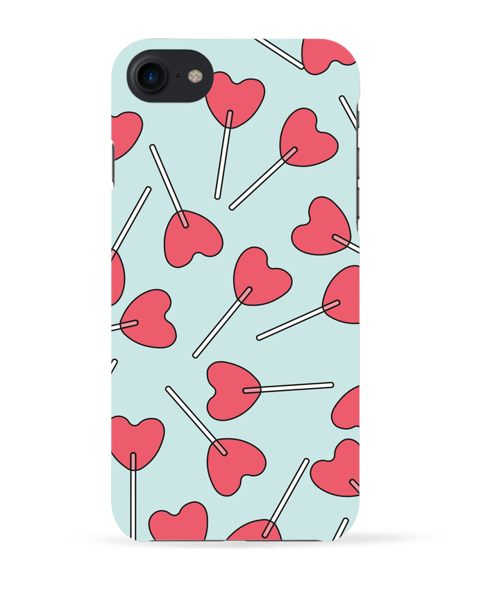 Case 3D iPhone 7 Sucettes coeur de tunetoo