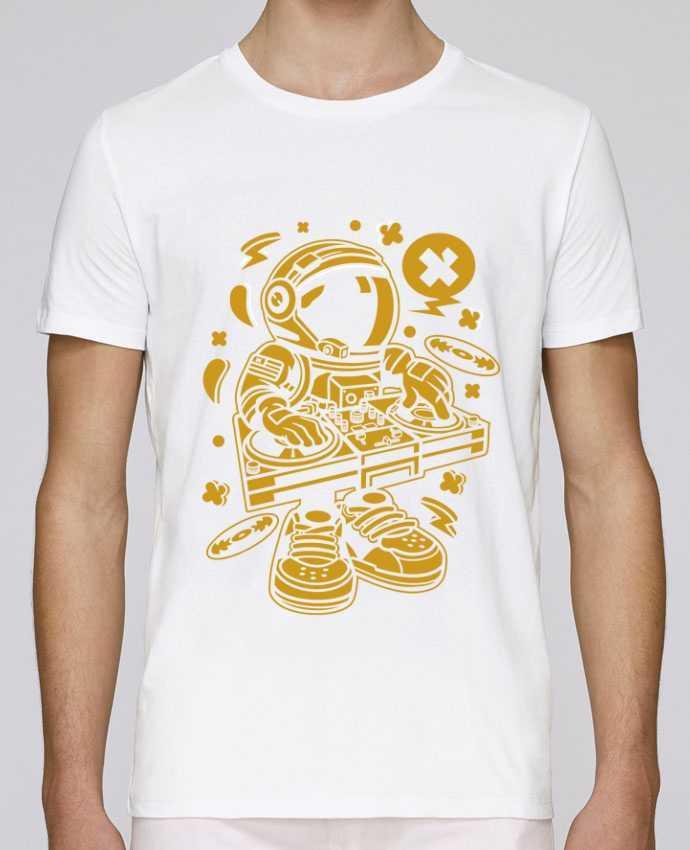 Unisex T-shirt 150 G/M² Leads Dj Astronaute Golden Cartoon | By Kap Atelier Cartoon by Kap Atelier