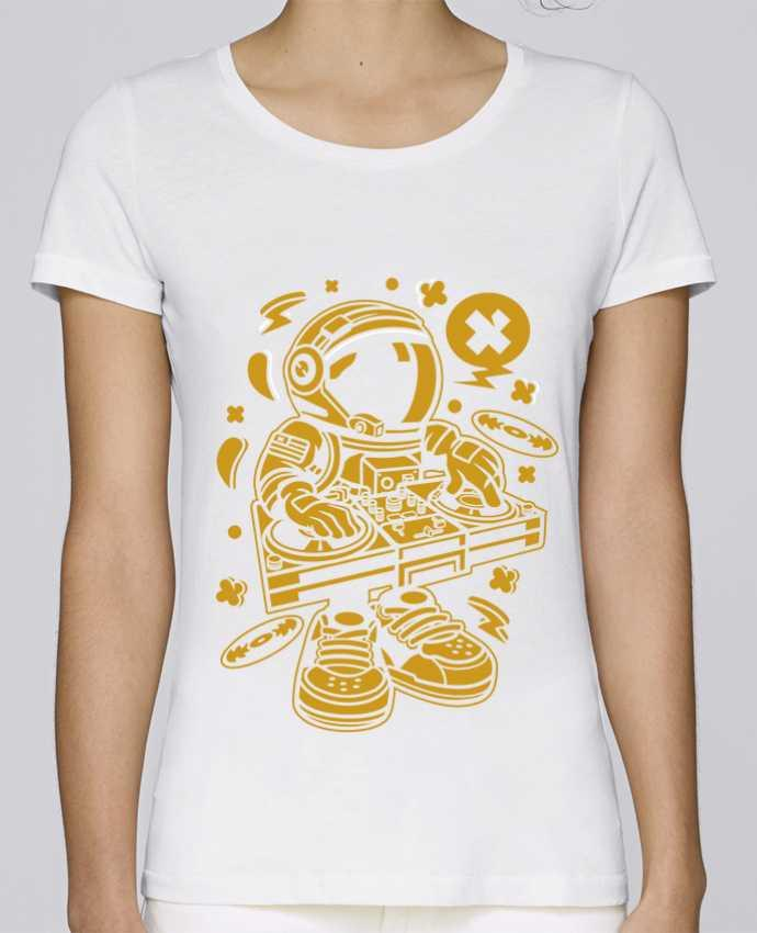 T-shirt Women Stella Loves Dj Astronaute Golden Cartoon | By Kap Atelier Cartoon by Kap Atelier