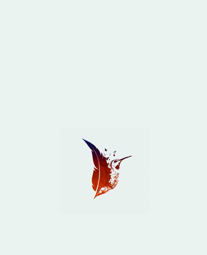 Tote Bag cotton plume colibri by Studiolupi