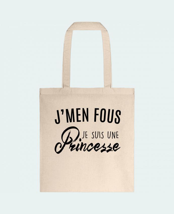 Tote Bag cotton J'men fous je suis une princesse by LPMDL