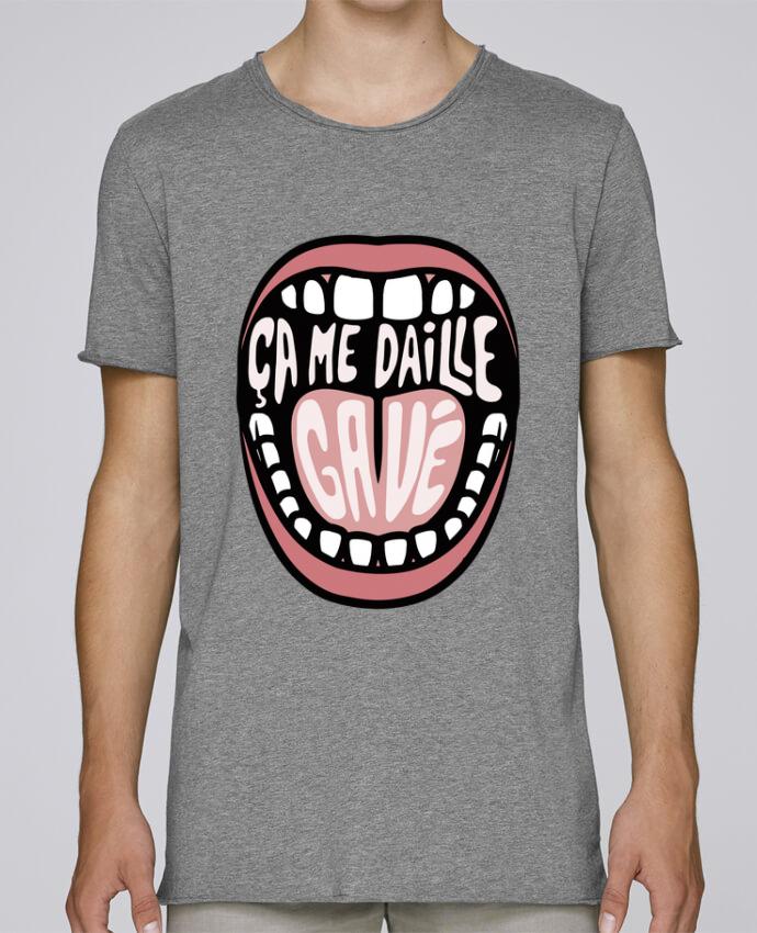 T-shirt Men Oversized Stanley Skates ça me daille gavé bouche by tunetoo