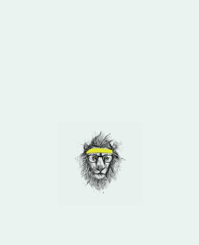 Tote Bag cotton Hipster Lion by Balàzs Solti