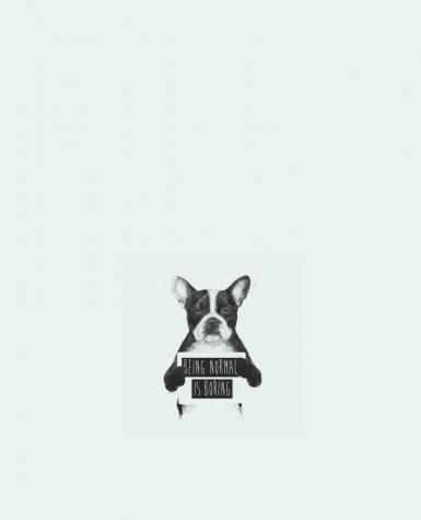 Tote Bag cotton Being normal is boring by Balàzs Solti
