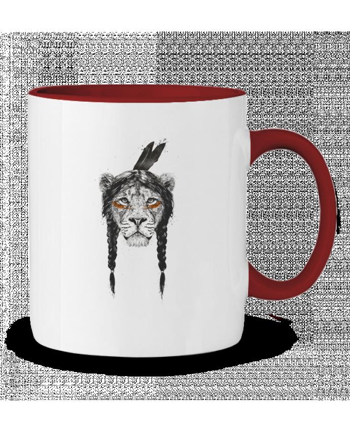 Two-tone Ceramic Mug warrior_lion Balàzs Solti