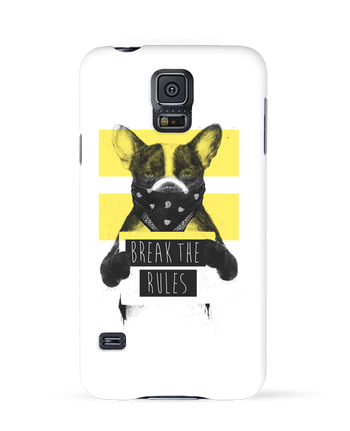 Case 3D Samsung Galaxy S5 rebel_dog_yellow by Balàzs Solti