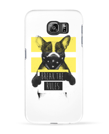 Case 3D Samsung Galaxy S6 rebel_dog_yellow - Balàzs Solti