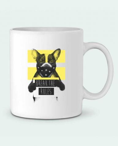 Ceramic Mug rebel_dog_yellow by Balàzs Solti