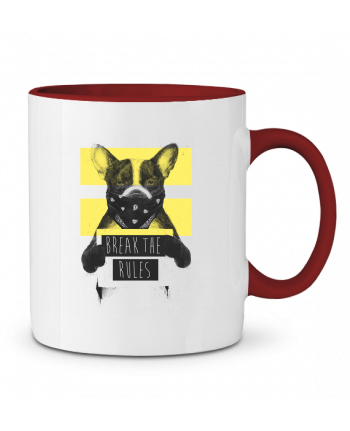 Two-tone Ceramic Mug rebel_dog_yellow Balàzs Solti