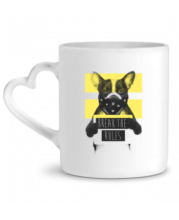 Mug Heart rebel_dog_yellow by Balàzs Solti