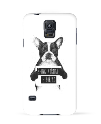 Case 3D Samsung Galaxy S5 Being normal is boring by Balàzs Solti