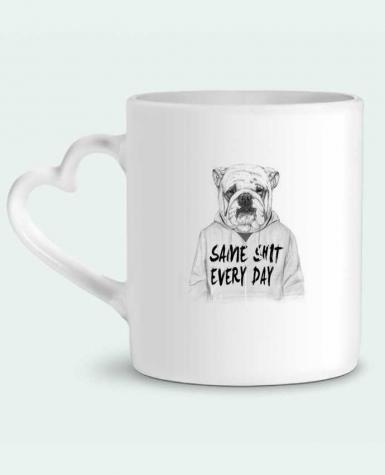 Mug Heart Same shit every day by Balàzs Solti