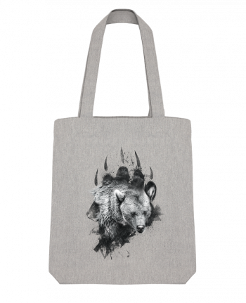 Tote Bag Stanley Stella Bear footprint by WZKdesign