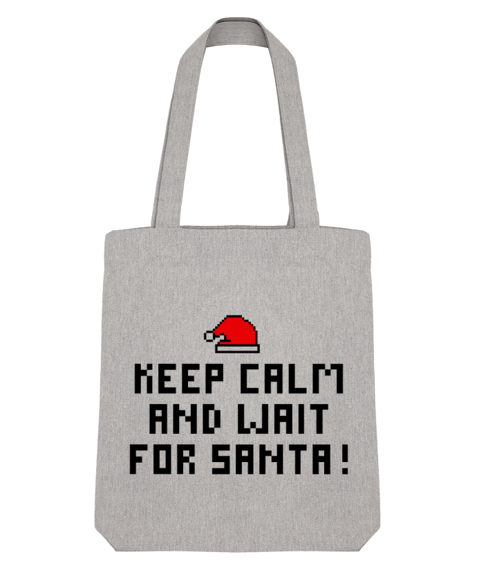 Tote Bag Stanley Stella Keep calm and wait for Santa ! by tunetoo
