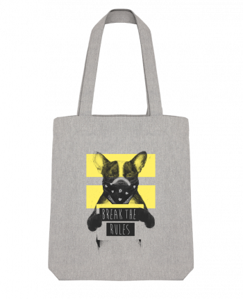 Tote Bag Stanley Stella rebel_dog_yellow by Balàzs Solti
