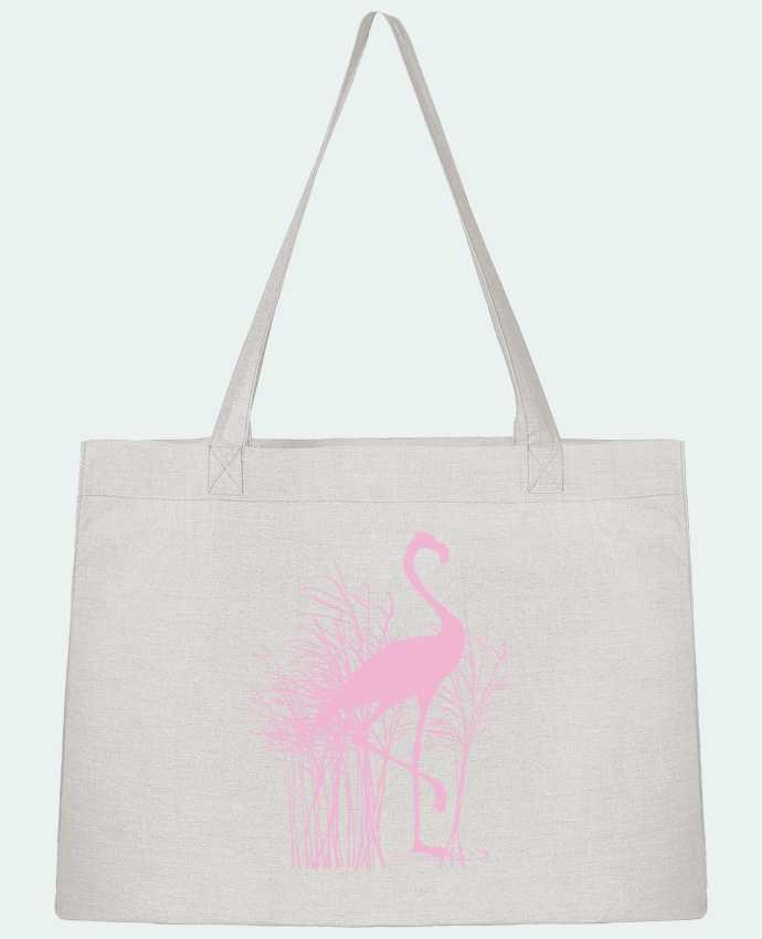 Shopping tote bag Stanley Stella Flamant rose dans roseaux by Studiolupi