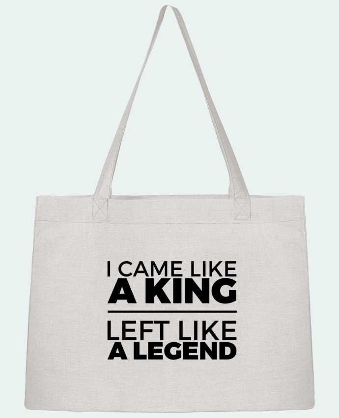 Shopping tote bag Stanley Stella I came like a king II by tunetoo