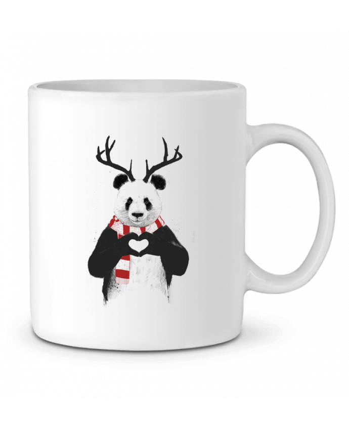 Ceramic Mug X-mas Panda by Balàzs Solti