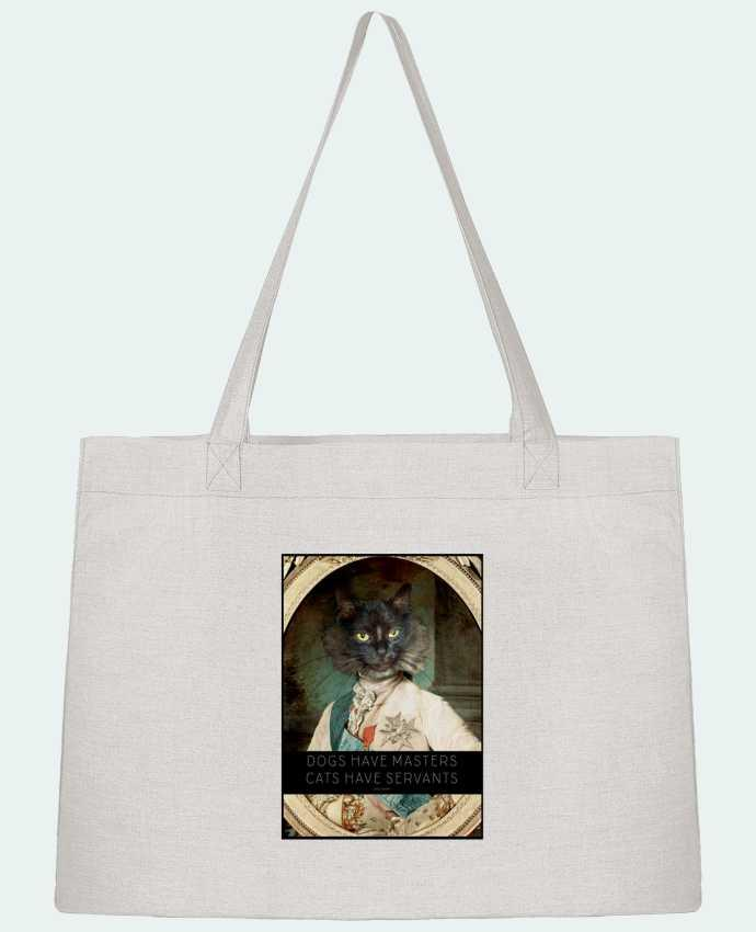 Shopping tote bag Stanley Stella King Cat by Tchernobayle