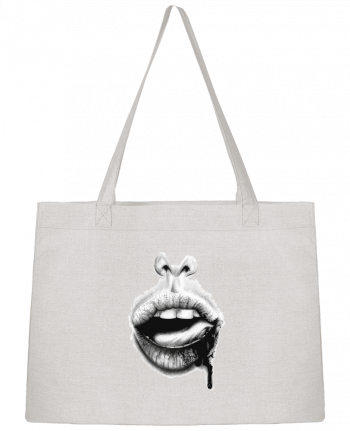 Shopping tote bag Stanley Stella BAISER VIOLENT by teeshirt-design.com
