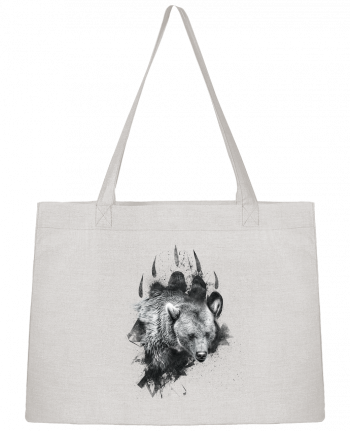 Shopping tote bag Stanley Stella Bear footprint by WZKdesign