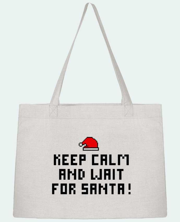 Shopping tote bag Stanley Stella Keep calm and wait for Santa ! by tunetoo