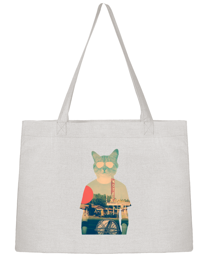 Shopping tote bag Stanley Stella Cool cat by ali_gulec