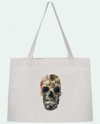 Shopping tote bag Stanley Stella Skull town by ali_gulec