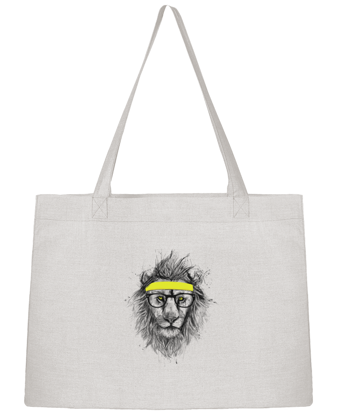 Shopping tote bag Stanley Stella Hipster Lion by Balàzs Solti
