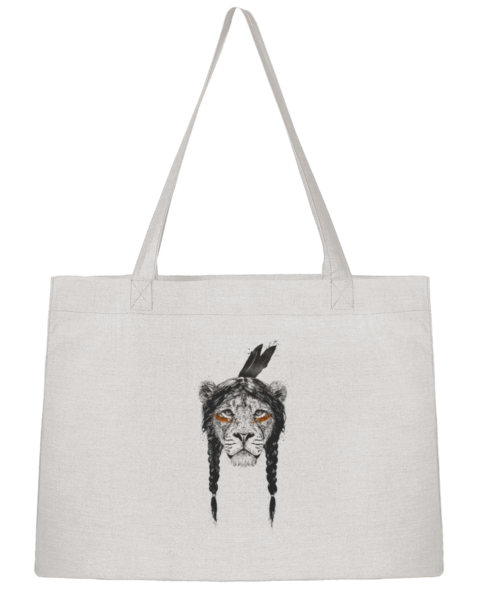 Shopping tote bag Stanley Stella warrior_lion by Balàzs Solti