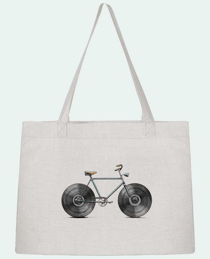 Shopping tote bag Stanley Stella Velophone by Florent Bodart