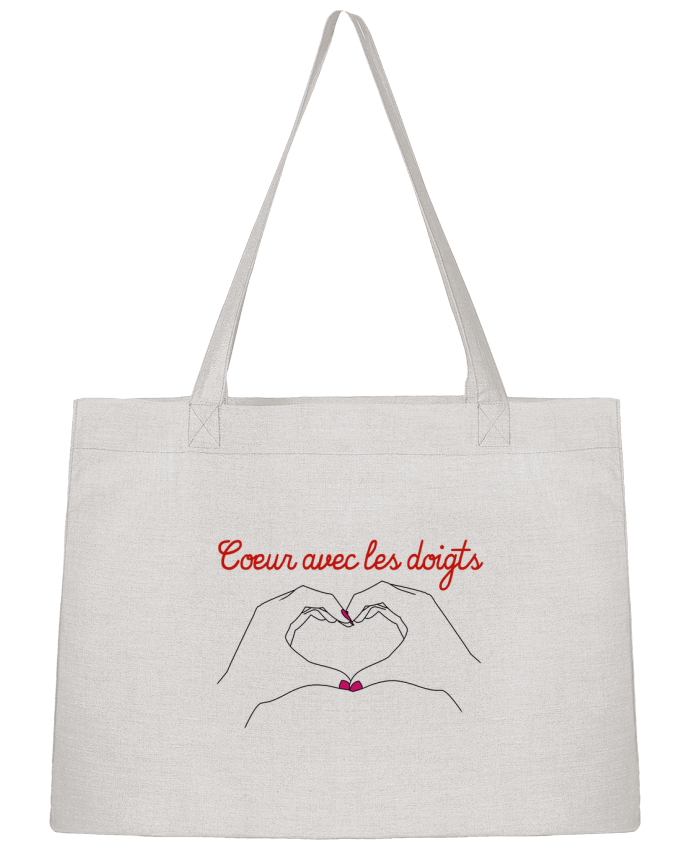 Shopping tote bag Stanley Stella Coeur avec les doigts by WBang
