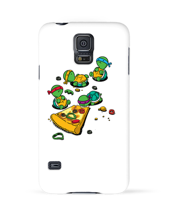 Case 3D Samsung Galaxy S5 Pizza lover by flyingmouse365