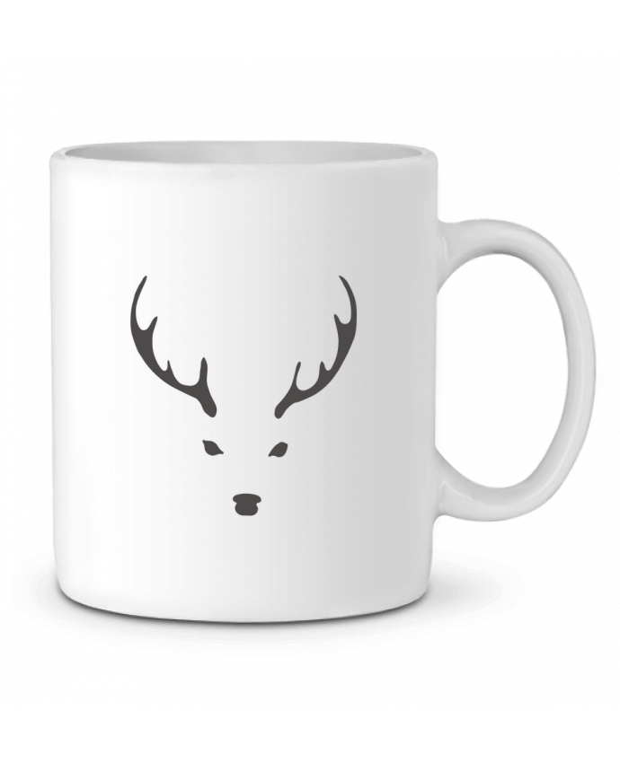 Ceramic Mug WHITE DEER by Morozinka