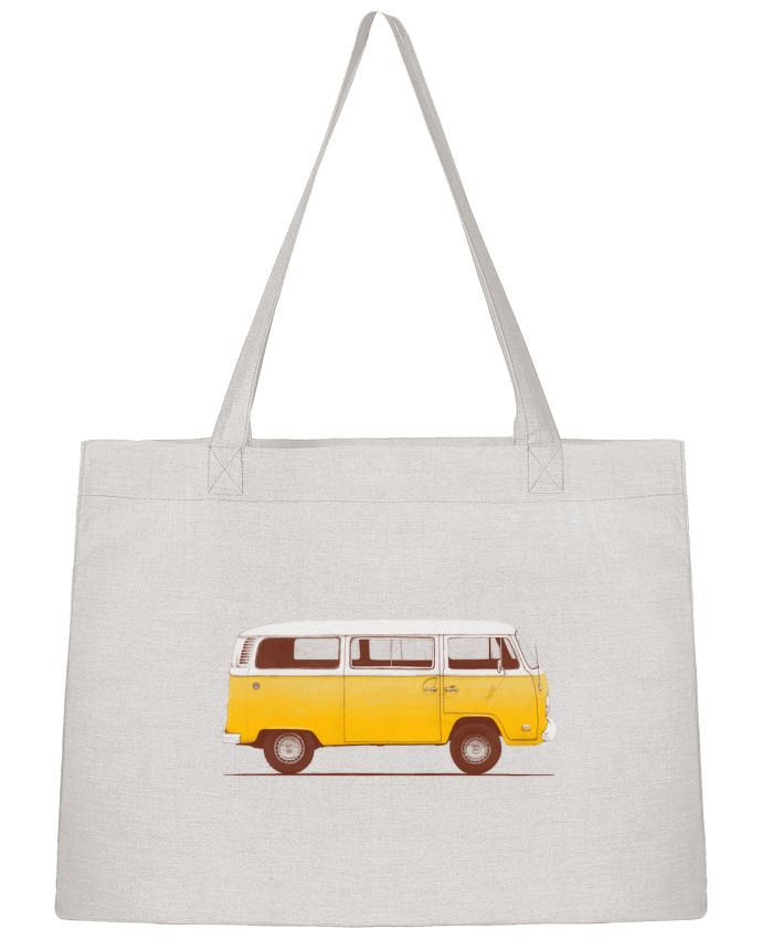 Shopping tote bag Stanley Stella Yellow Van by Florent Bodart