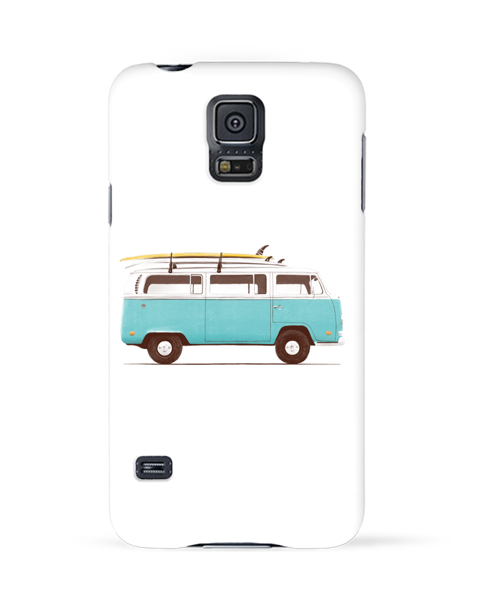 Case 3D Samsung Galaxy S5 Blue van by Florent Bodart
