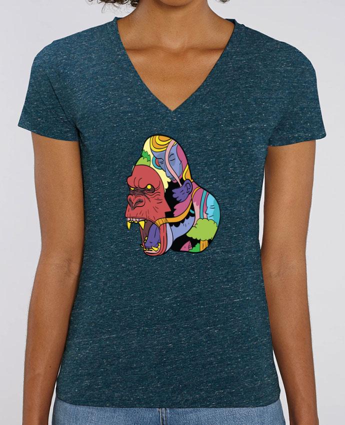 Women V-Neck T-shirt Stella Evoker wrathofnature Par  Arya Mularama