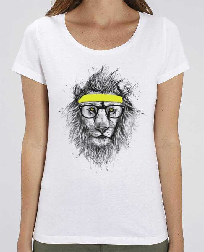 Essential women\'s t-shirt Stella Jazzer Hipster Lion by Balàzs Solti