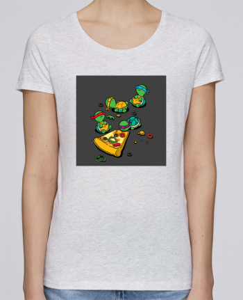 T-shirt Women Stella Loves Pizza lover by flyingmouse365