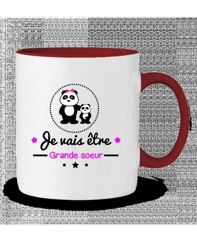 Two-tone Ceramic Mug Bientôt grande soeur - Future grande soeur Benichan