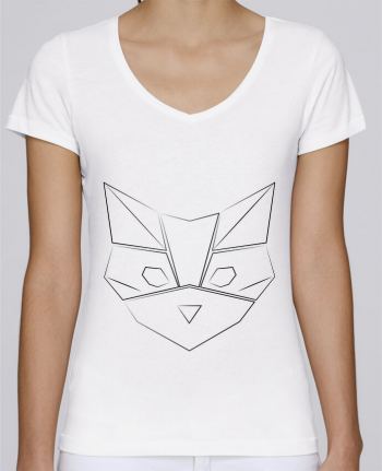 T-Shirt V-Neck Women Stella Chooses Logo chat by Claire