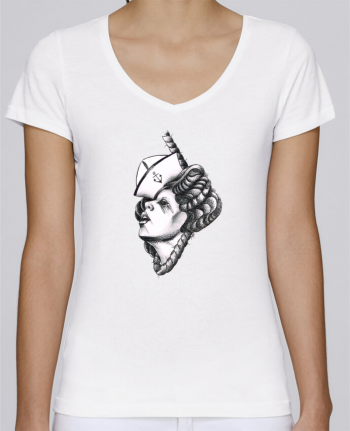 T-Shirt V-Neck Women Stella Chooses Femme capitaine by david