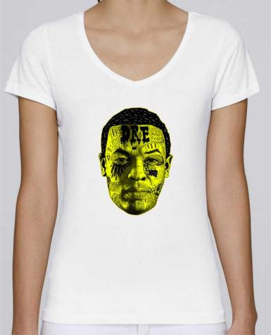 T-Shirt V-Neck Women Stella Chooses Dr. Dre by Nick cocozza
