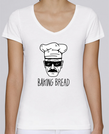 T-Shirt V-Neck Women Stella Chooses Baking bread by Nick cocozza