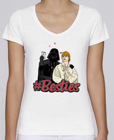 T-Shirt V-Neck Women Stella Chooses #Besties Star Wars by Nick cocozza