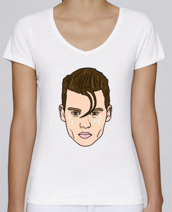 T-Shirt V-Neck Women Stella Chooses Cry baby by Nick cocozza