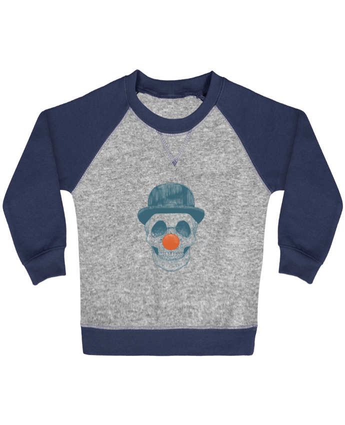 Sweatshirt Baby crew-neck sleeves contrast raglan Dead Clown by Balàzs Solti